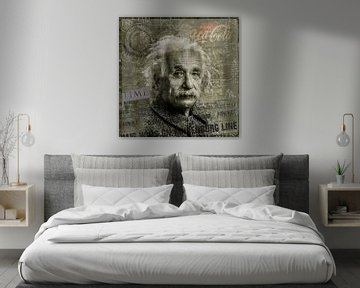 Albert Einstein von Rene Ladenius Digital Art