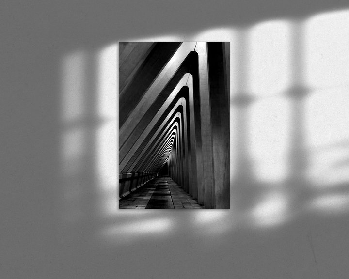 Sfeerimpressie: Architectuur - lijnenspel in zwart wit - hoog van Photography by Karim