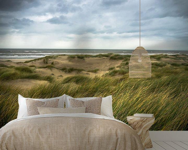 Beispiel fototapete: Dünengras im Wind von Martijn Tilroe