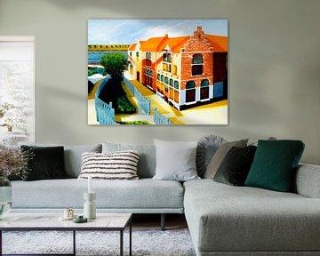 Rembrandts Geburtshaus 1606 Weddesteeg Leiden Holland von Norbert Aronds