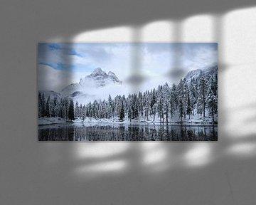 Snow Morning, Dolomites