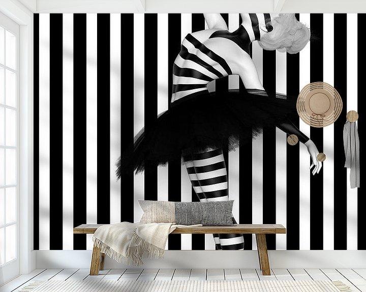 Beispiel fototapete: Tanz der Linien von Arjen Roos