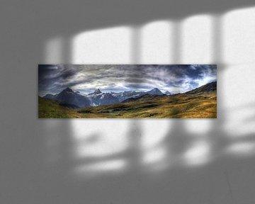Alpenpanorama van Gerhard Albicker
