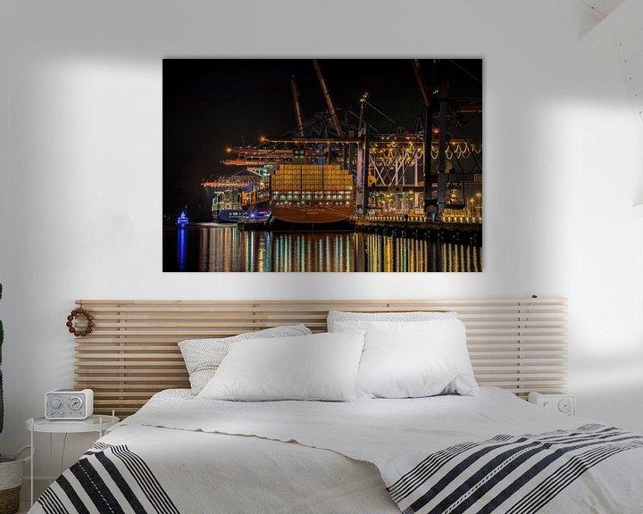 Beispiel: Containerschiff bei Nacht von Alexander Schulz