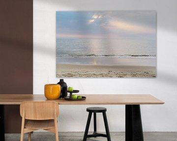 Zonsondergang Katwijk aan Zee van Lisenka l' Ami Fotografie