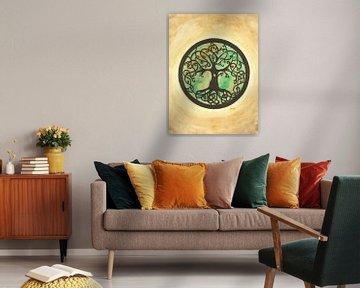 De levensboom Mandala van Sandra Steinke