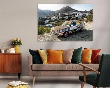 Griekse kunst op de Duitse auto van Ronnie Reul