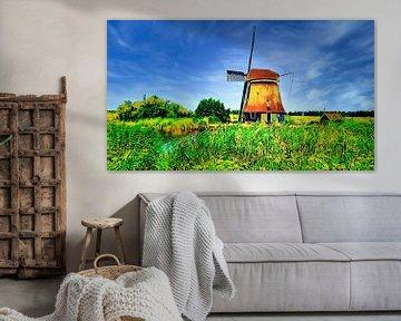 Poldermühle Heerhugowaard von Digital Art Nederland