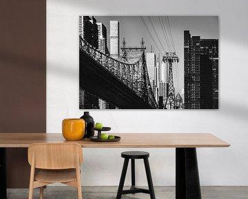 New York - Queensboro Bridge (schwarzweiß) von Sascha Kilmer
