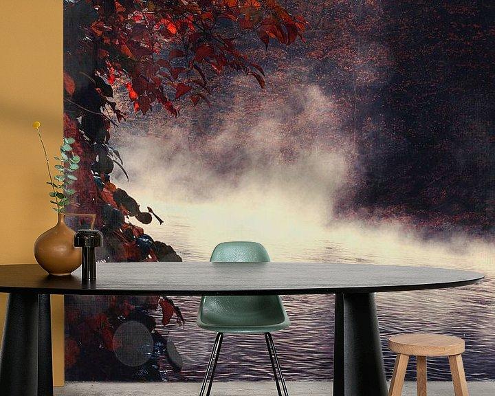 Sfeerimpressie behang: Mist over de rivier van Dirk Wüstenhagen