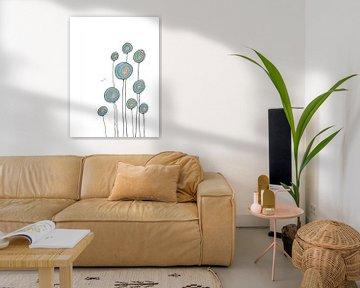 Abstracte Bloemen van Monique van Kipshagen