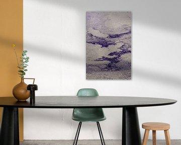 Paars Abstract van Patrycja Polechonska