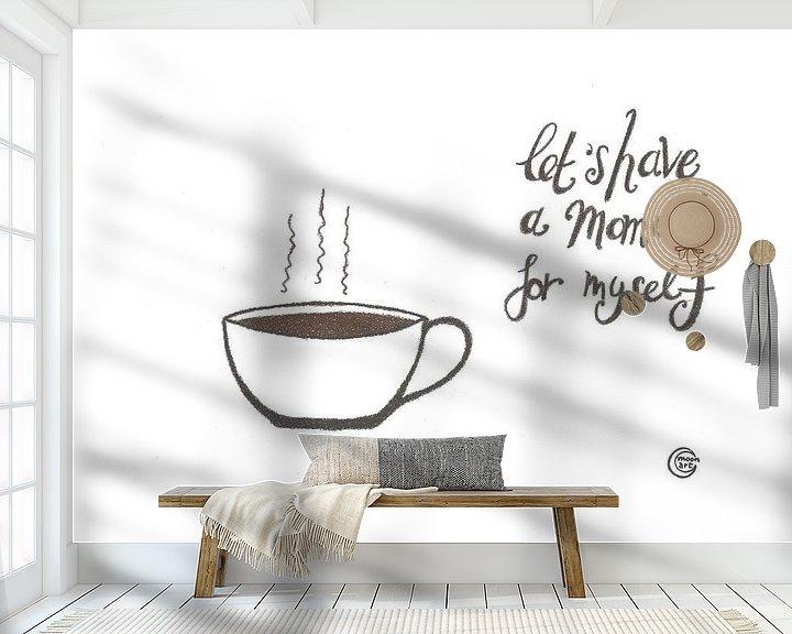 Beispiel fototapete: Kunst & Zitat, Kaffee Trinken von Monique van Kipshagen
