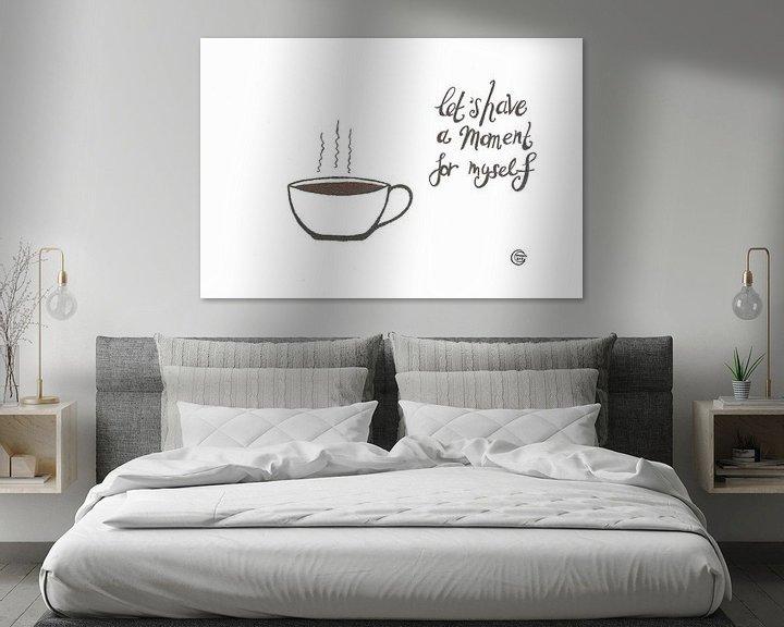 Beispiel: Kunst & Zitat, Kaffee Trinken von Monique van Kipshagen