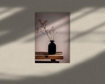 Stilleben-Vase mit Gipsgras von Marjolein van Middelkoop