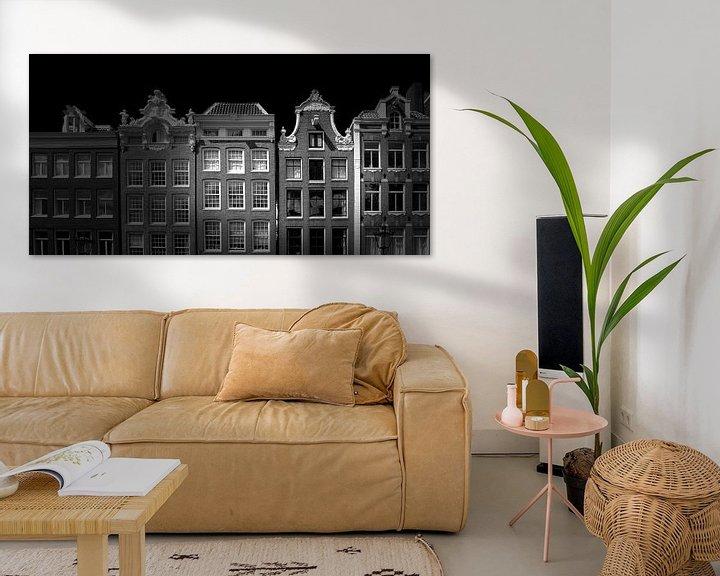 Beispiel: Amsterdamer Fassade (schwarz-weiß) von Rob Blok