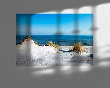 Eenzaam strand aan de Oostzee van Sascha Kilmer