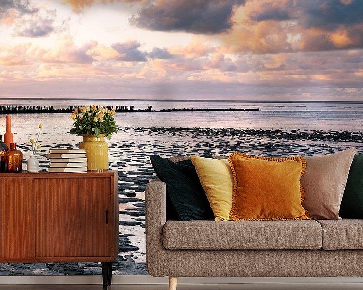 Sfeerimpressie behang: De Friese kust van Charlotte Jalvingh