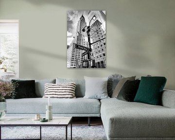 Chrysler Building, New York City (zwart-wit)