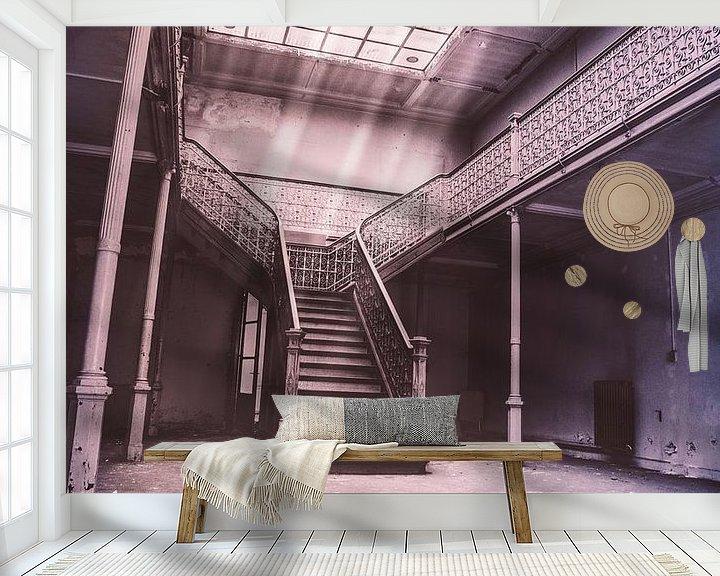 Beispiel fototapete: Treppenhaus mit Oberlicht und Sonnenlicht von Art By Dominic