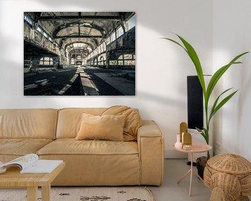 Abgelaufenes Kohlebergwerksgebäude in Belgien von Art By Dominic