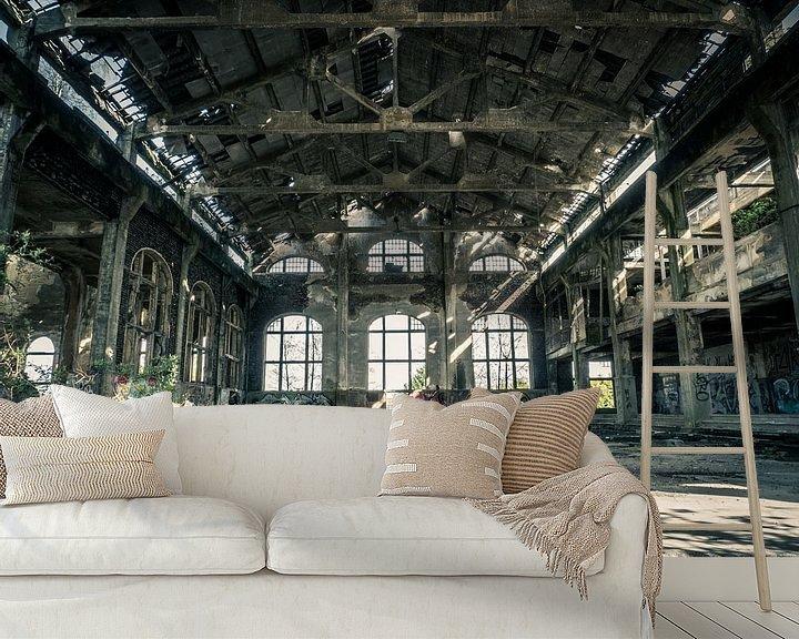 Beispiel fototapete: Halle im Gebäude des erloschenen Kohlebergwerks in Belgien von Art By Dominic