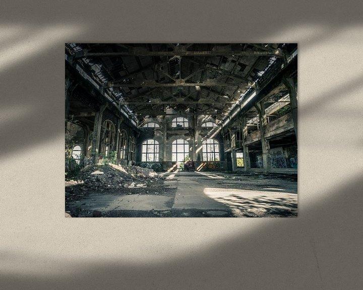 Beispiel: Halle im Gebäude des erloschenen Kohlebergwerks in Belgien von Art By Dominic