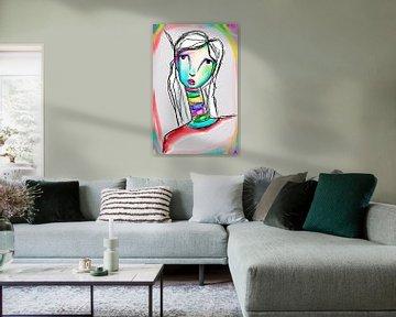 Woman Colorful van Jolanda Janzen-Dekker