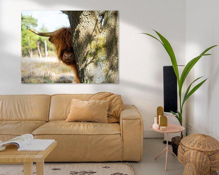 Sfeerimpressie: Verstoppertje met een schotse hooglander van Saranda Hofstra
