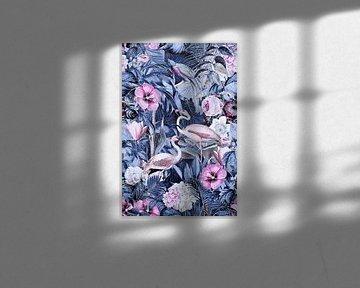 Flamingo's in de middernachtjungle van Andrea Haase