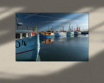 Vissersvaartuigen in Denemarken van Peter Schickert