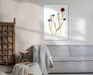 Blumen im Feld von Sandra Steinke