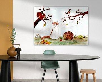 Kater Möhrchen im Herbst von Sandra Steinke