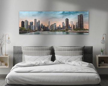 Die Skyline der Stadt Chicago mit ihren Wolkenkratzern von Patrick Brinksma