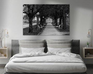 Corona Alley zwart en wit van Uwe Ulrich Grün