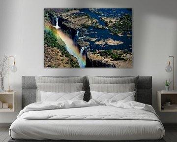 Victoria watervallen in Zambia en Zimbabwe