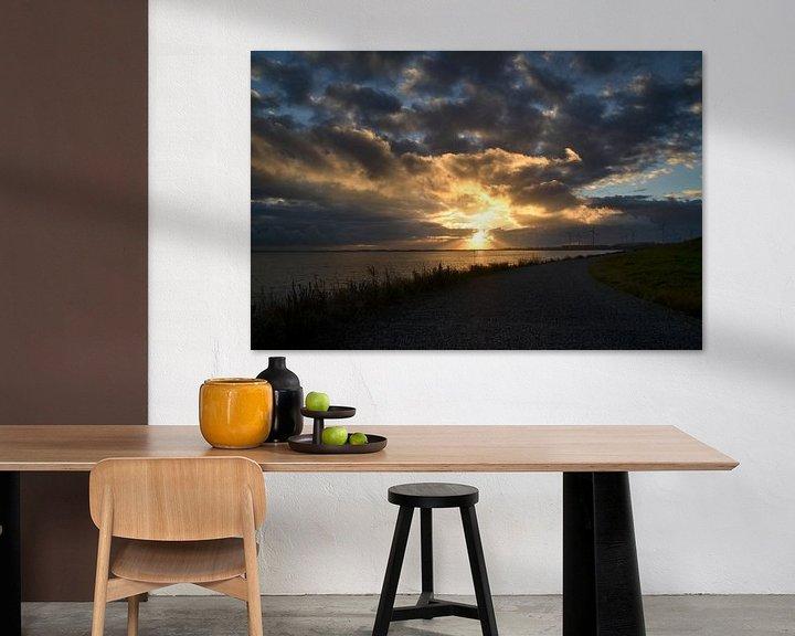Sfeerimpressie: Zonsondergang in Zeeland van Marcel Nauta