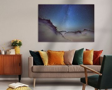 Galaxie dans la région des dunes vivantes sur Terschelling.