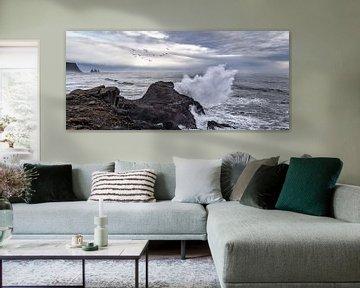 Brandung an Islands Küste von Andreas Hackl