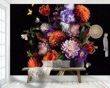 Königlich Niederländisches Blumenstillleben von Sander Van Laar
