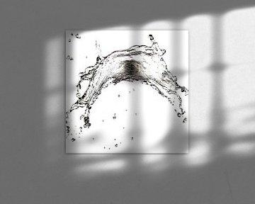 Water vliegt door de lucht van Andreas Hackl