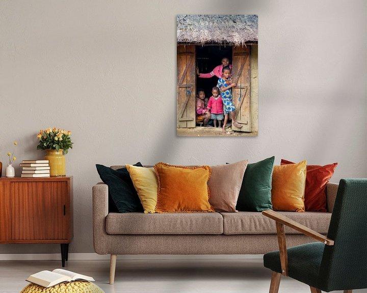 Sfeerimpressie: Portret van een Madagaskische familie van Jeroen Kleiberg