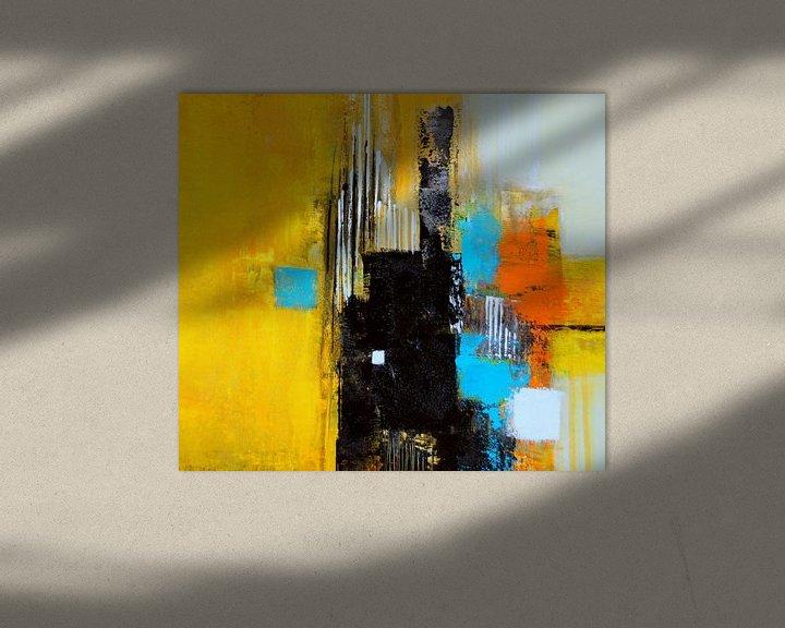 Beispiel: Abstrakt in Gelb von Claudia Neubauer