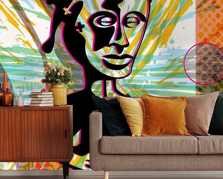Beispiel fototapete: afrikanische Figur von Siegfried Gwosdz