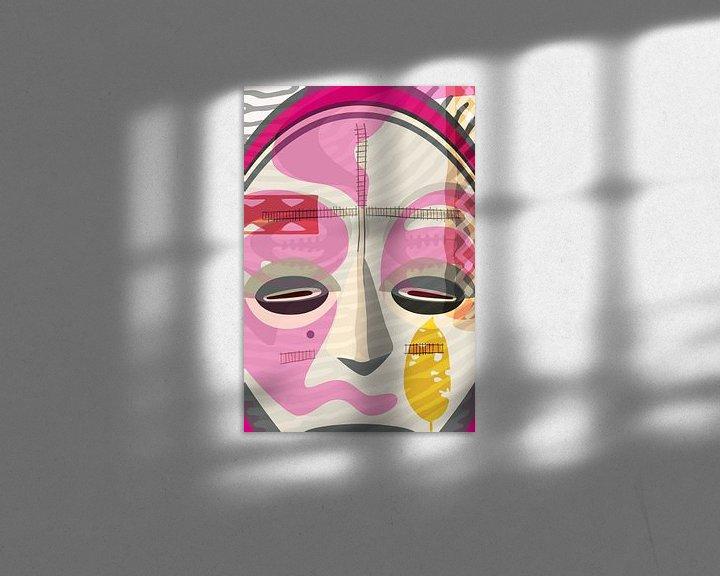 Sfeerimpressie: afrikaans masker van Siegfried Gwosdz