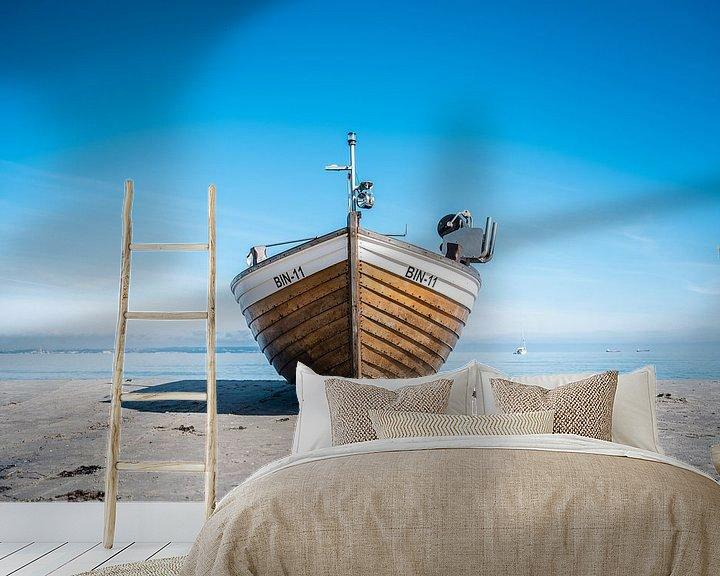 Beispiel fototapete: Fischerboot am Ostseestrand im Ostseebad Binz auf der Insel Rügen von Mirko Boy