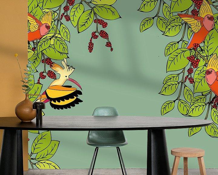 Beispiel fototapete: Vogelpartei von -  BIMBO  -