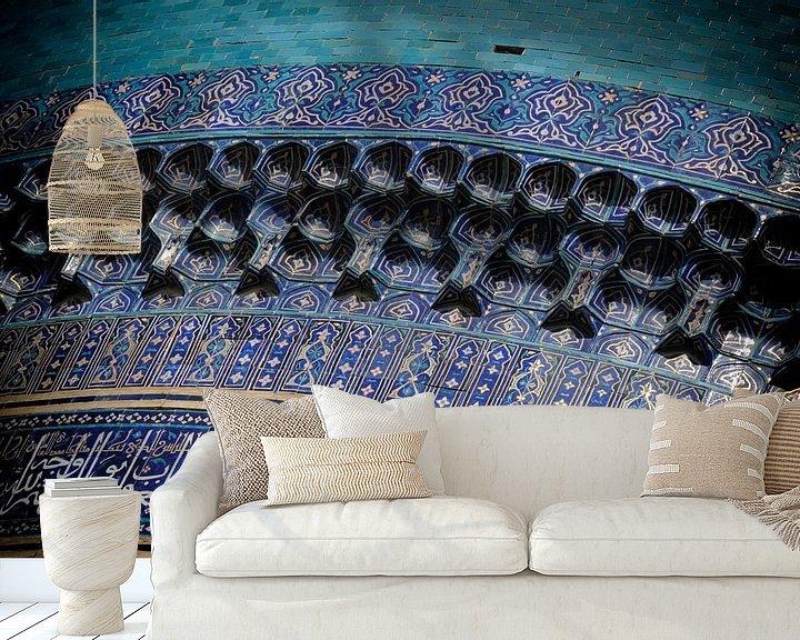 Beispiel fototapete: Fliesenarbeiten Madrassa Tilla Kari von Ton Bijvank