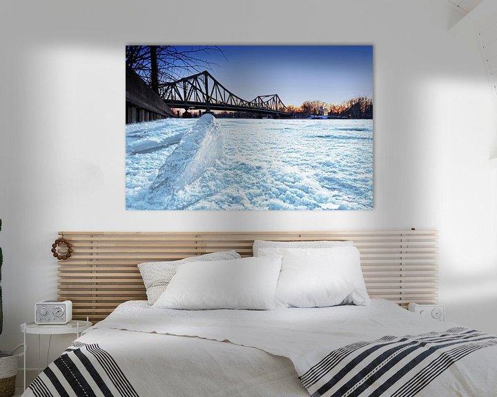 Sfeerimpressie: Glienicke Bridge in de winter van Frank Herrmann
