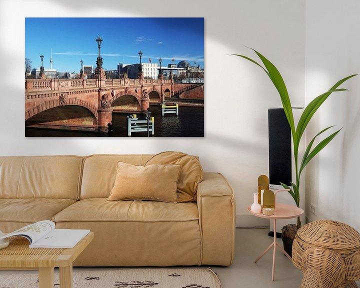 Impression: Pont Moltke avec tour de télévision et Reichstag sur Frank Herrmann